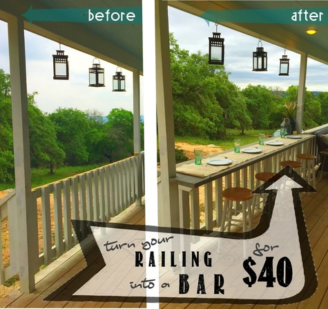Turn your railing into an Eat Up Bar for $40